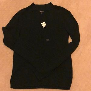 NWT Express Key Hole Knit Shirt Size L!